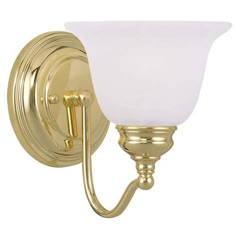 polished brass bathroom light fixtures 1 light livex essex polished brass bathroom vanity