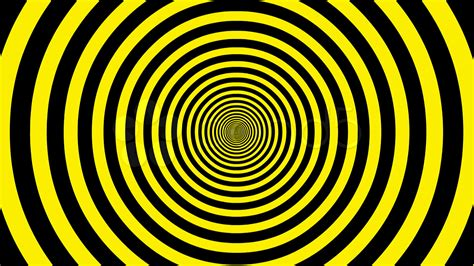 Black Yellow target tunnel retro spiral animation loop yellow black