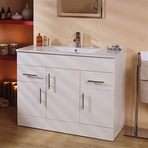 Aspen Bathroom Furniture Modena Aspen 100cm Vanity Unit