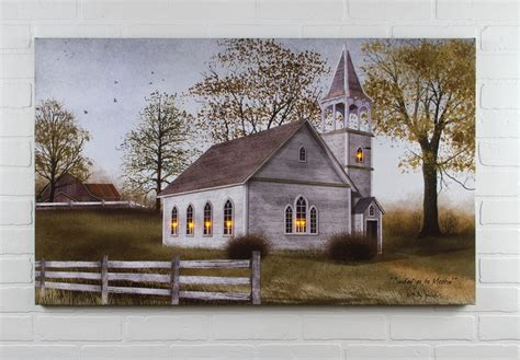 lighted church canvas radiance lighted canvas billy sunday go to meeting church large 24x40