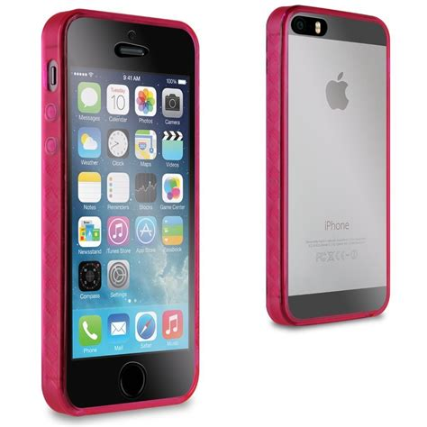 Iphone 5 5s Bumper for apple iphone 5 5s pink bumper thin slim front