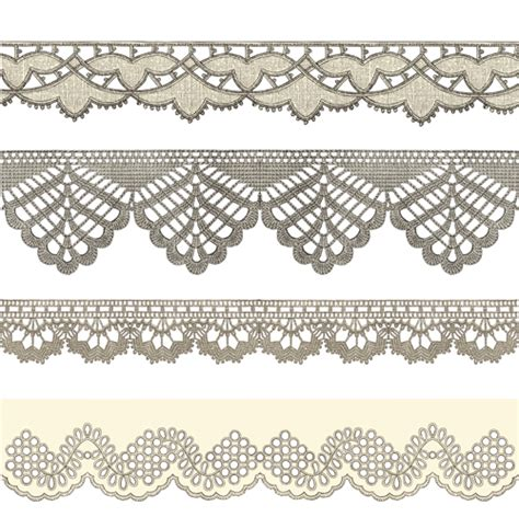 vector lace tutorial vintage lace ribbons vector 01 over millions vectors