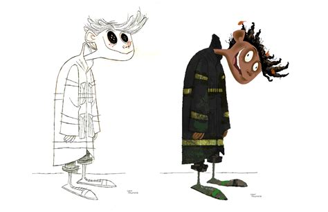 design concept art living lines library coraline 2009 character design