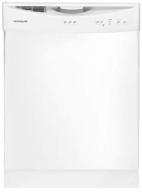 frigidaire ffbd2406nw 24 quot white built in dishwasher