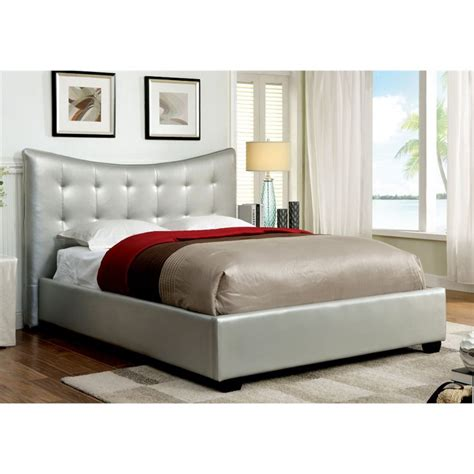 silver tufted bed furniture of america salim king tufted leather bed in