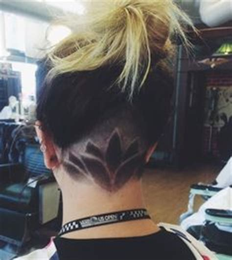 sun haircut design back of head undercut designs undercut and lotus flowers on pinterest