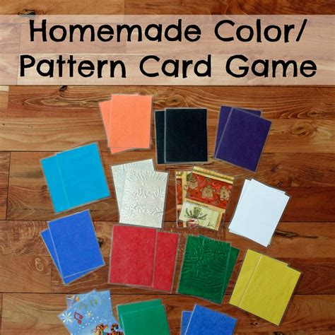 pattern recognition card game homemade color pattern card game researchparent com
