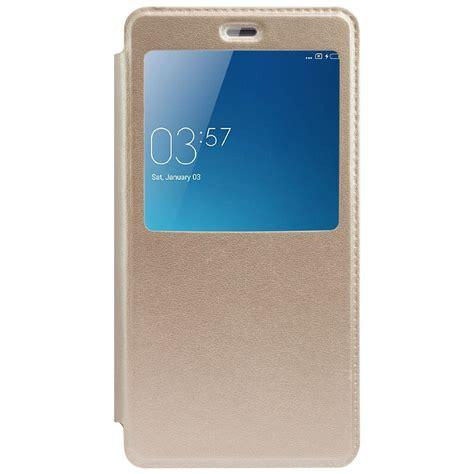 Gea Flip Cover Xiaomi Redmi 3 Gold xiaomi redmi 3s prime flip cover by ceffon golden flip