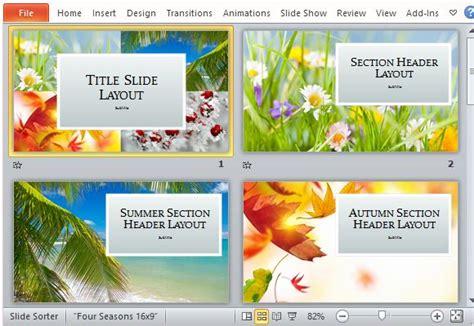 four seasons powerpoint template