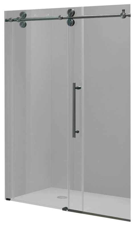 Glass Shower Door Hardware Parts Vigo Elan 52 Quot Frameless Shower Door Clear Glass And Stainless Steel Hardware Modern Tub And