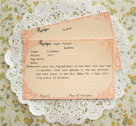 Vintage Recipe Card Template Free by Free Printable Recipe Cards Call Me
