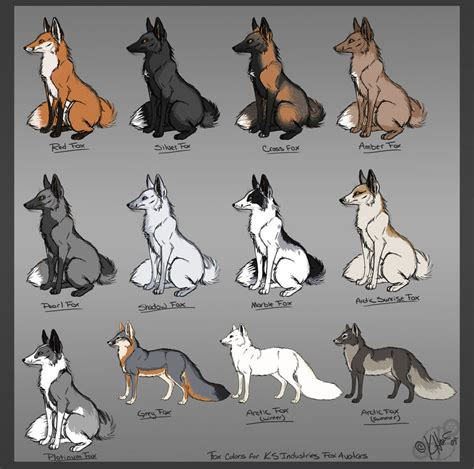 dog color pattern names fox av color chart by krissyfawx on deviantart