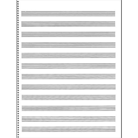the asylum manuscript notebook blank sheet staff paper for musicians and composers books passantino manuscript paper 65 12 stave 32 page spiral