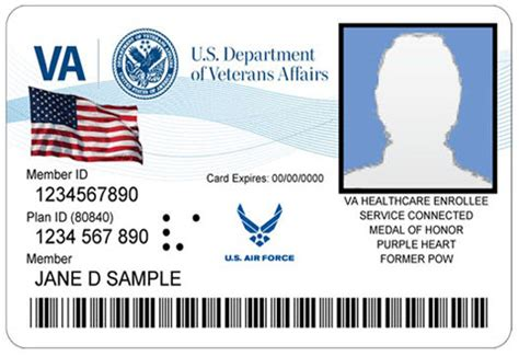 health insurance id card template new veteran health id cards va loma healthcare system