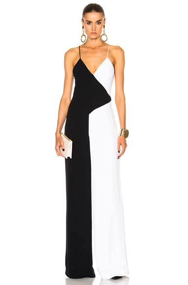 Two Tone Jumpsuit Minimal cushnie et ochs silk crepe jumpsuit in black fwrd