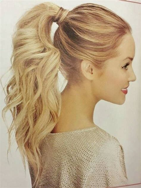 cool ponytail hairstyles for curly hair hair