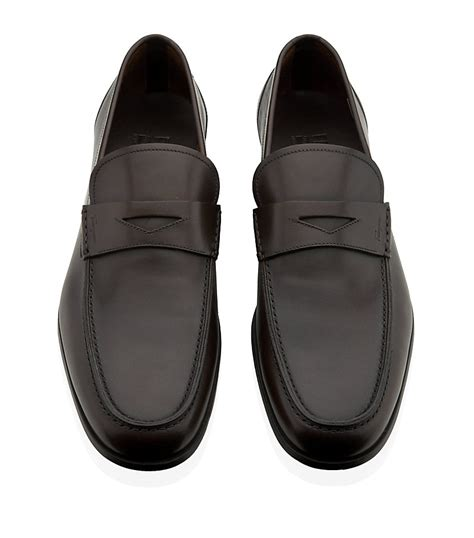 Sepatu Bally Mocasin Denim 02 ferragamo triumph loafer in black for lyst