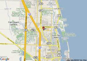 map of hton inn palm gardens west palm