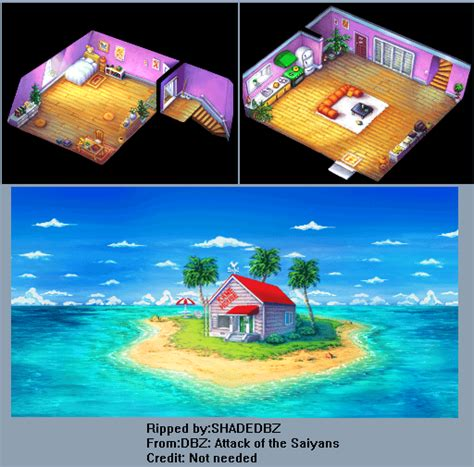 kame house ds dragon ball z attack of the saiyans kame house the spriters resource