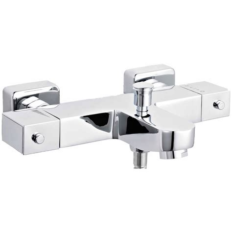 lauren square thermostatic bath shower mixer tap vbs