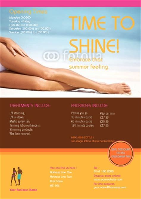 Online Print Templates Printing Com Uk Tanning Salon Website Templates