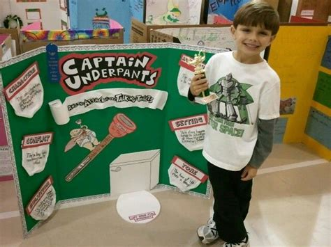 captain underpants book report reading fair project 2nd grade 1st place quot captain