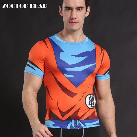 Goku Suit T Shirt Kaos goku t shirt z t shirts anime shirt tops compression costume fitness
