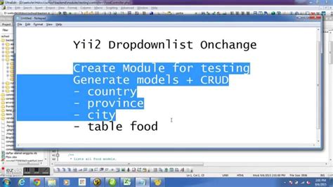 yii2 dynamic yii2 dropdownlist onchange with no extension youtube