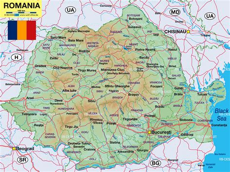 map of romania map of romania romania maps mapsof net