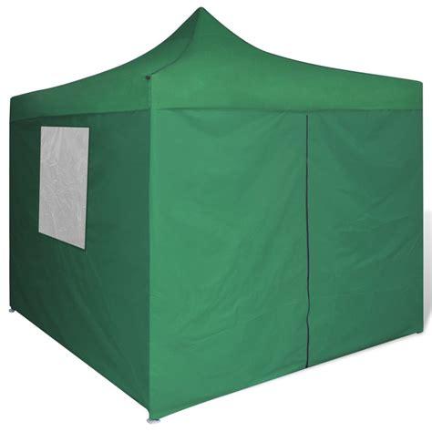 tenda pieghevole vidaxl tenda pieghevole verde 3 x 3 m con 4 pareti vidaxl it
