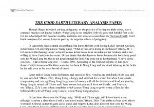 Exles Of Literary Analysis Essay by The Earth Literary Analysis Paper Gcse