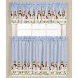 Winter Kitchen Curtains Winter Snowman Kitchen Curtain Altmeyer S Bedbathhome