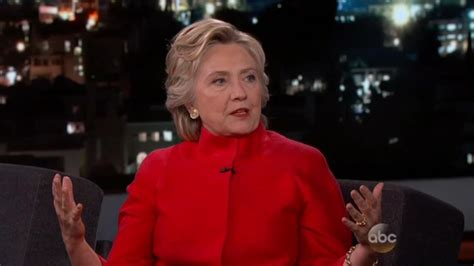 where does hilary clinton live clinton swears to kimmel if trump told truth about me i