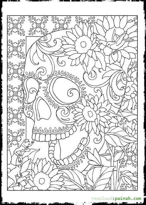 day of the dead skull coloring pages day of the dead sugar skulls coloring pages coloring
