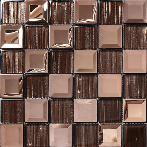 metal mosaics tile for bathroom backsplash home interiors stainless steel metal mosaic glass tile kitchen backsplash