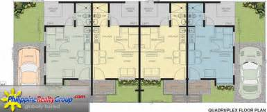 quadruplex floor plans bellavita general trias cavite philippine realty