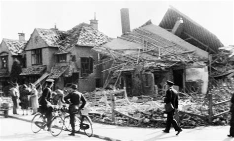 Row House - file a damaged row of houses in gosport hampshire after an air raid on 12 august 1940 mh149