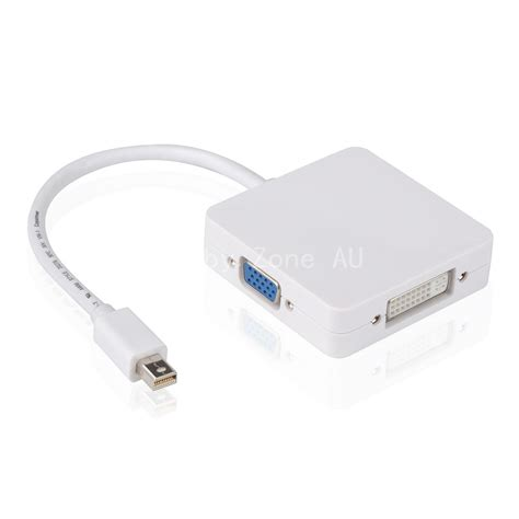 Vga Connector Macbook Pro 3in1 thunderbolt mini dp display port to hdmi dvi vga adapter cable for macbook ebay