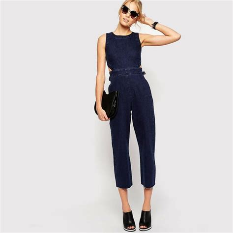 Cropped Jumpsuit cropped denim jumpsuit endource