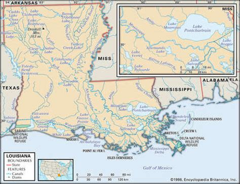 louisiana map rivers stock illustration physical map of the state of