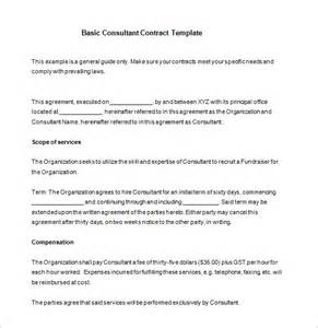 12 consultant contract templates free word pdf