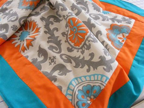 teal and orange comforter turquoise teal orange tangerine baby bedding blanket ready