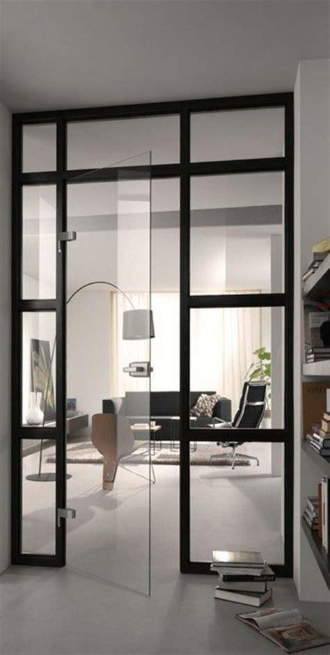 mobile wohnzimmer moderne glastur als elegante dekoration zuhause design