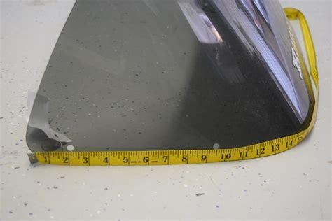 ranger boats windshield used ranger tinted plexiglass boat windshield 17 quot h x 32