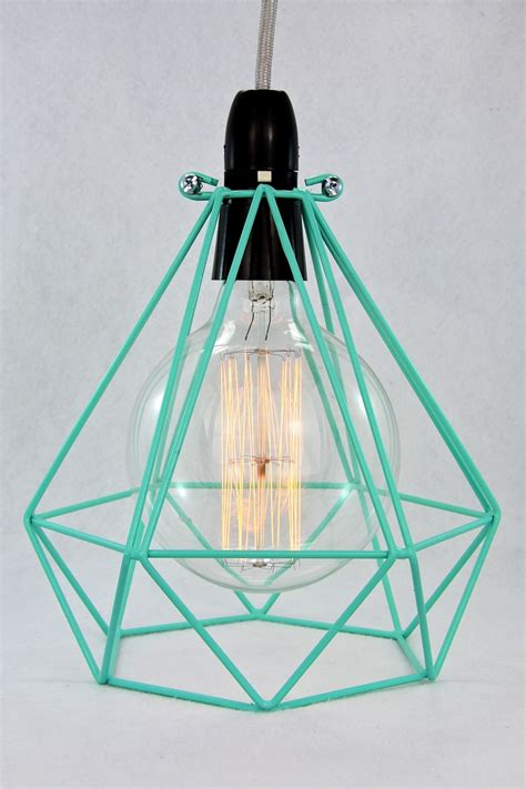 wire cage pendant light empirical style vintage interiors design