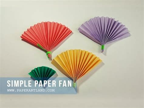 Make Paper Fans - how to make a paper fan ハリセン c 243 mo hacer un abanico de