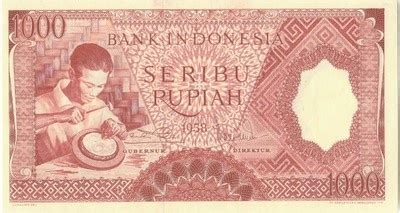 Uang Rp 1000 Tahun 1958 17 best images about uang lawas on coins mars and paper