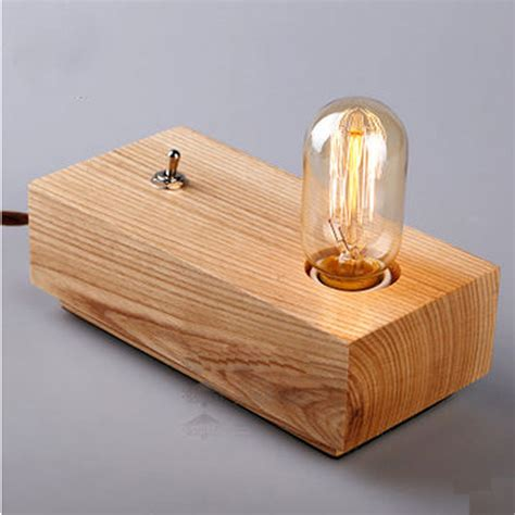 Wooden Handmade - aliexpress buy vintage loft edison bulbs wooden