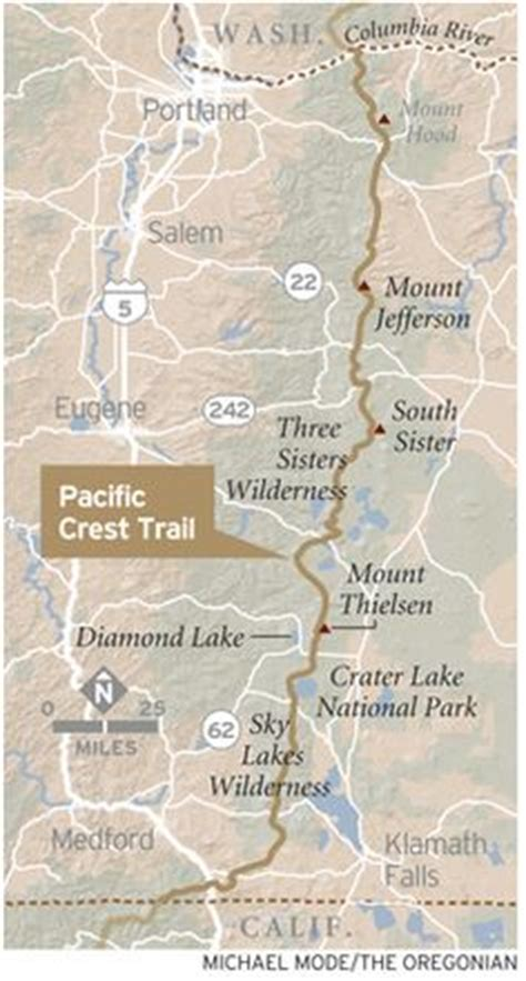 the best pacific crest trail section hikes in the oregon