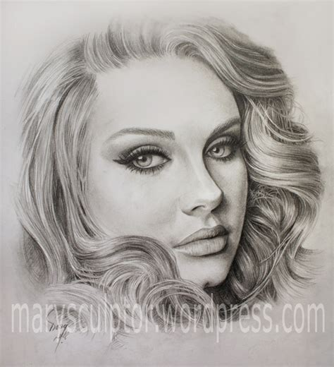 how to draw a portrait my third adele s portrait drawing marysculptor